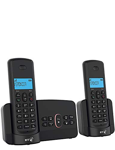 BT3110 Home Phone with Nuisance Call Blocking and Answer Machine (Twin Handset Pack) from BT