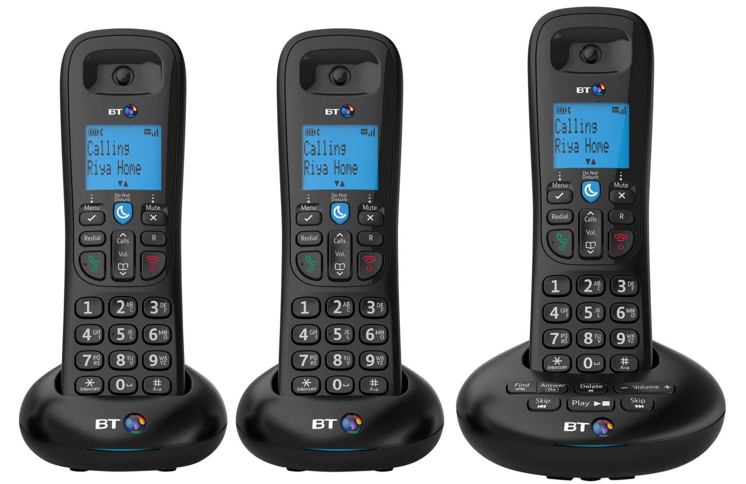 BT 3570 Cordless Telephone with Answer Machine - Triple from BT