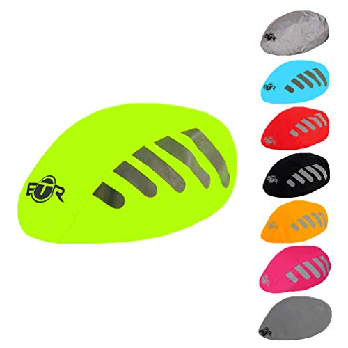 BTR Helmet Cover (Yellow). Waterproof & High Visibility Bike Helmet Cover. Reflective and High Viz. from BTR