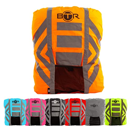 1325975c92c BTR Waterproof High Visibility Backpack Cover. High Viz Rucksack Cover With  Reflective 3M Tape.