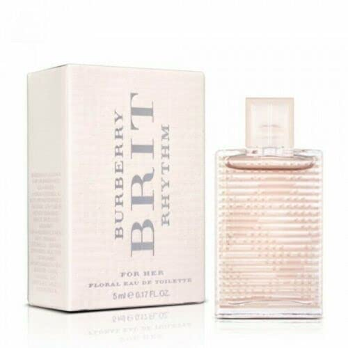 Burberry Brit Rhythm for Her Floral Eau de Toilette 5ml Spray 15ml EDT Spray from BURBERRY