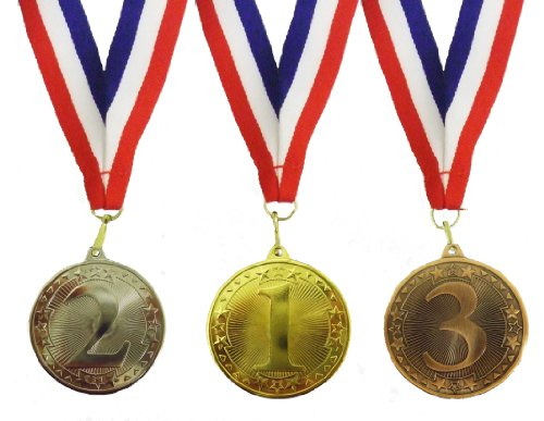 Single set of 1st, 2nd and 3rd place medals from BW Trophies