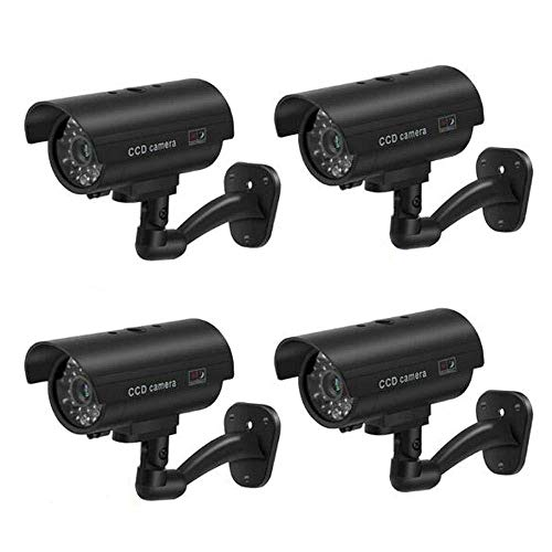 4xQuality Dummy Fake Outdoor Indoor CCTV Security Camera Blinking W/led Nightcam from BW