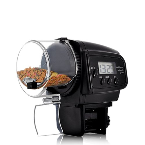 BW Aquarium Automatic Fish Feeder, Auto Fish Food Feeder with LCD Display for Aquarium (Anti-Jam Design) from BW
