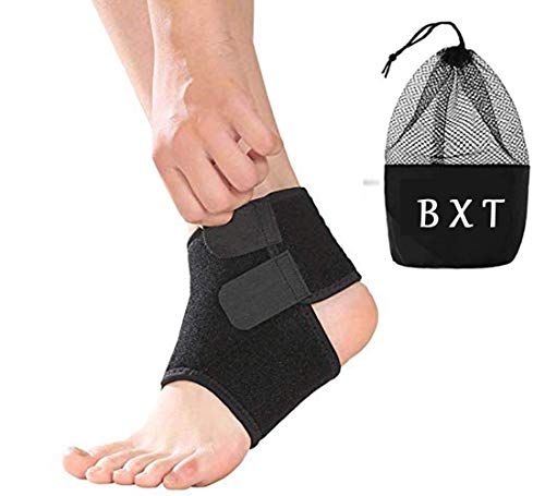 Kids Children Compression Ankle Brace Support Sleeve Foot Stabilizer Ankle Guard Pads for Arthritic Pain Relief & Injury Rehabilitation, Elastic Ankle Protector for Running, Basketball, 1 Pair from BXT