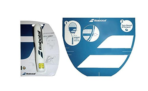 Babolat Tennis Racket String Stencil and Ink Marker (White Ink Marker) from Babolat
