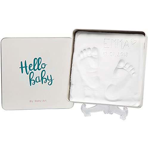 Baby Art - Magic Box Square Essentials Elegant Gift Box with Plaster Cast for Baby Feet or Hands, Multi-Colour from Baby Art