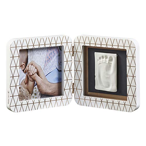 Baby Art My Baby Touch Photo Frame 2 Frames with Footprint Kit for Hand or Foot of the Newborn, White Color, Special Edition Copper from Baby Art