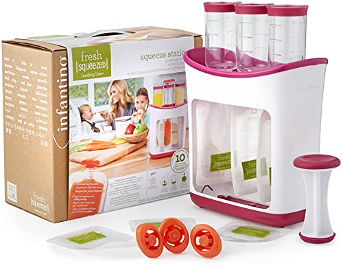 Infantino Squeeze Station, homemade puree from Infantino