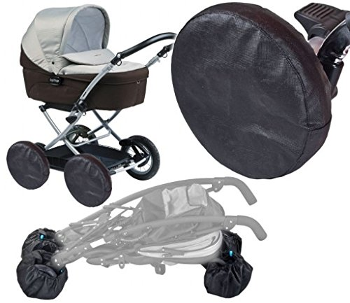 4X - Universal Protection Cover for Wheels Pram Buggy Pushchair Front Rear from Baby Comfort