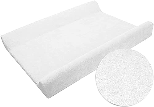 Changing Mat Cover Terry 70x50 cm With Raised Edges - White from Baby Comfort