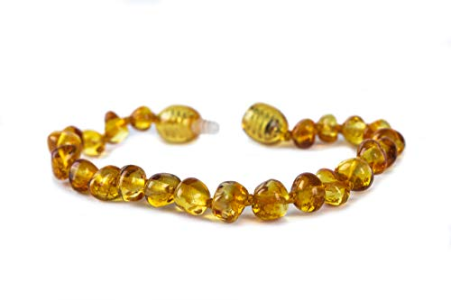100% Genuine Baltic Amber Anklet Bracelet Honey sizes 11cm 12cm 13cm 14cm 15cm 16cm 17cm. Free and Fast Delivery. Money Back Guarantee. (18 CM) from Baby J's