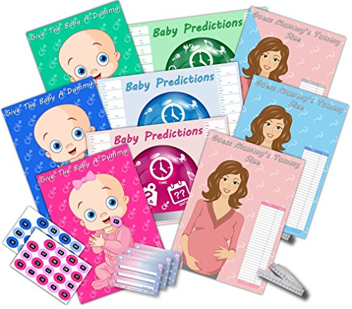 Baby Shower Party Games - Mum to be - 3 Game Pack #PB- (Pink/Girl) from Baby Showered UK