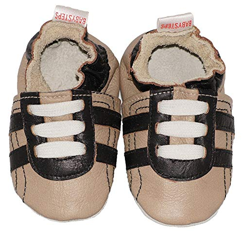 BabySteps Black Trainers Baby Shoes, X-Small, Sandy from Baby Steps