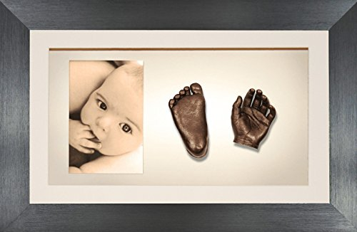BabyRice 3D Baby Casting Kit Bronze Paint with Pewter Display Photo Frame from BabyRice