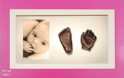 BabyRice 3D Baby Casting Kit Bronze Paint with Pink Display Photo Frame from BabyRice
