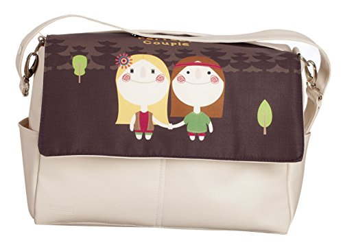 Baby Leatherette Bag with Removable Brackets in Handle from Babyline