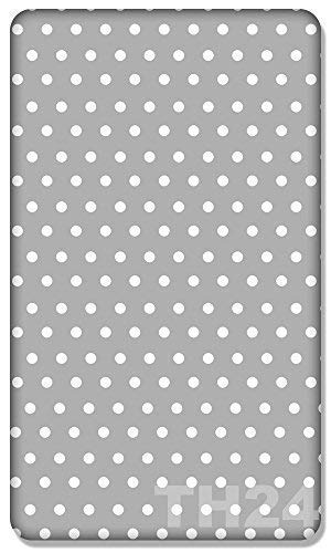 100% COTTON FITTED SHEET WITH PRINTED DESIGN FOR BABY JUNIOR BED 160x70CM (Dots grey) from Babymam