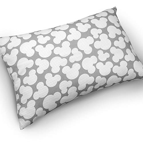 BABY PILLOW CUSHION KIDS 60x40cm BACK SUPPORT DECORATIVE ANTI-ALLERGENIC (Pillow case + pillow, Mouse grey) from Babymam