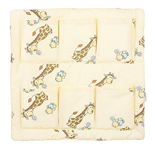 COT TIDY ORGANISER COT BED NURSERY HANGING STORAGE MANY DESIGNS 6 POCKETS BABYMAM (GIRAFFE ECRU) from Babymam