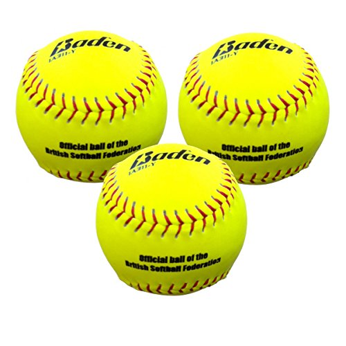 Baden Women's BSF11 Softball (Pack of 3) - Yellow from Baden