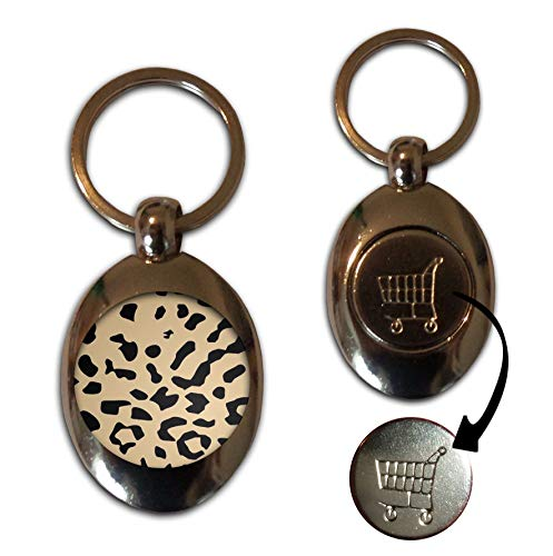 Leopard Print - £1/€1 Metal Shopping Coin Token Key Ring from BadgeBeast.co.uk