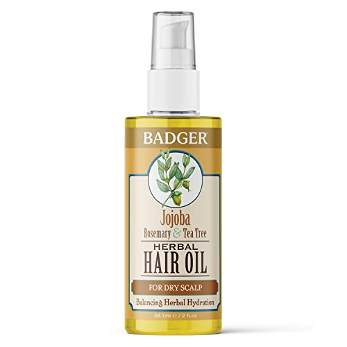 Badger Balm 59.1 ml Jojoba Hair Oil for Itchy Scalp from Badger Balm