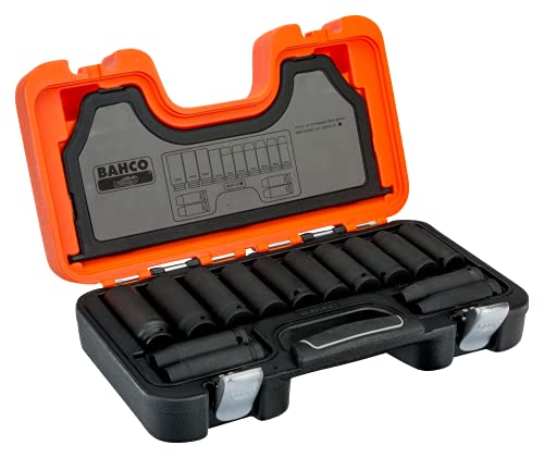 BAHCO IRDD/S14 Deep Impact Socket, 14 Piece Set 0.5-inch Square Drive from Bahco