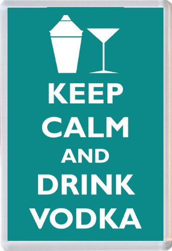 Keep Calm and Drink Vodka - Novelty Jumbo Fridge Magnet Gift/Souvenir/Present from Baked Bean Store