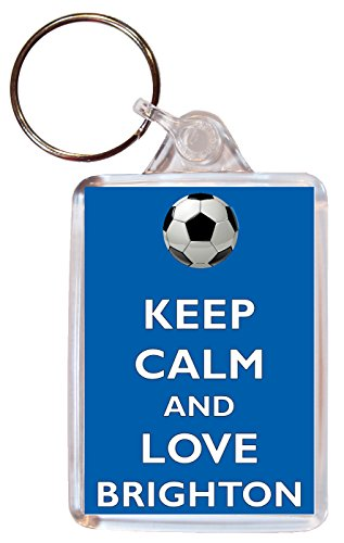 Keep Calm and Love Brighton - Double Sided Large Keyring Football/FC themed Gift/Souvenir/Present/Name Tag from Baked Bean Store