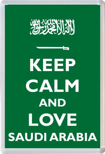 Keep Calm and Love Saudi Arabia - Jumbo Fridge Magnet - Brand New Gift/Present/Souvenir from Baked Bean Store