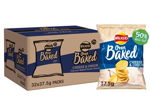 Walkers Baked Cheese and Onion Crisps Box, 37.5 g (Case of 32) from Walkers