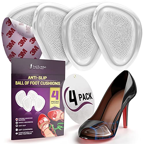 Gel Insoles for Women (2 pairs) Party Feet Foot Pain Relief Pads Metatarsal Ball Of Foot Cushions - SLIM AND SOFTEST from Ballotte
