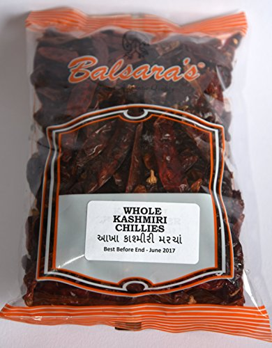 150g | PURE WHOLE DRIED KASHMIRI CHILLIES **FREE UK POST** WHOLE KASHMIRI CHILLI DRY CHILLY KASHMIRI CHILLI DRIED WHOLE MIRCH from Balsara's