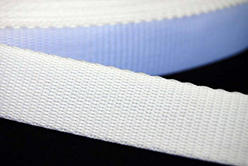 38mm White Polypropylene Webbing Strapping Bag Making Belts, Pet Leads, Sporting Equipments - Available In Various Lengths (5 metres) from Balsara's