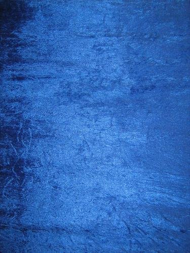 FAT QUARTER OF ROYAL BLUE CRUSHED VELVET FABRIC ***FREE POST*** DARK BLUE / BLUE CRUSHED VELVET VELOUR STRECHY/ STRETCH MATERIAL GREY 150cm Width Fat Quarter from Balsara's
