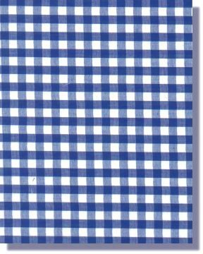 "Royal Blue Gingham **Free UK Post** Check Material ¼"" Gingham Check Polycotton Fabric PER METRE from Balsara's"