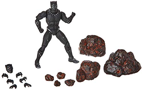 Bandai Black Panther Movie Figure and Rock Effects Set, Black, 15 cm from BANDAI