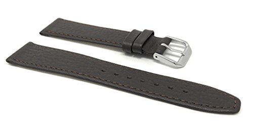 20mm Brown Buffalo Pattern Leather Smartwatch Band Strap fits Skagen Hagen, Signatur, Hald & Many More from Bandini
