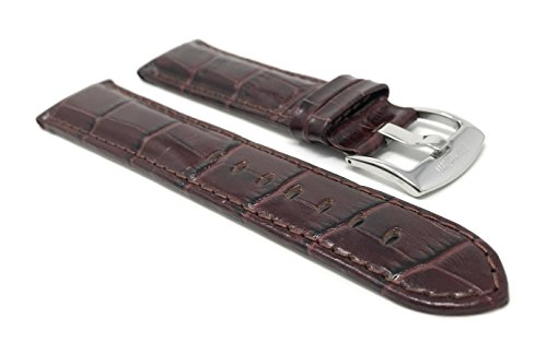 22mm Smartwatch Band Strap fits Motorola 360 (46mm Case), Samsung S3 Classic, Alligator Pattern, Leather, Brown from Bandini