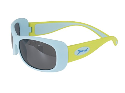 BanZ Sunglasses for Juniors (6 to 10 Years, Aqua/Lime Flexerz) from Banz