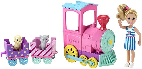 Barbie FRL86 Family Chelsea Choo Train with Doll, Colourful, Accessories Playset, Multi from Barbie