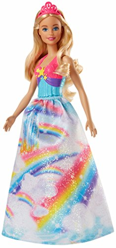 Barbie FJC95 FANTASY Rainbow Cove Princess Caucasian Dreamtopia, Long Hair, Colourful Dresses, Gift for 2 to 5 Years Children Dolls from Barbie