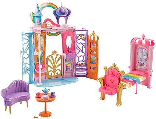 Barbie FTV98 Fantasy Fairytale Portable Castle Dreamtopia, Colourful Playset, Accessories, House, Multi from Barbie