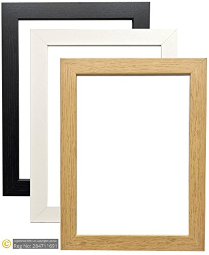 MODERN STYLE BLACK OAK WHITE PICTURE FRAMES PHOTO FRAMES POSTER SIZE FRAMES WOODEN EFFECT READY TO HANG OR TO STAND (12 x 10 INCHES, Oak) from Bargain Shop Az
