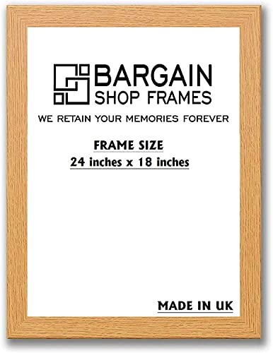 "Bargain Shop Az OAK WOODEN EFFECT PICTURE PHOTO POSTER FRAMES (24"" x 18"" (609.6mm x 457.2mm)) from Bargain Shop Az"