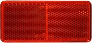 BargainBitz 2 X Red Reflector Self Adhesive Trailer Caravan Fence Horse Box Lorry Van Tp21 from BargainBitz