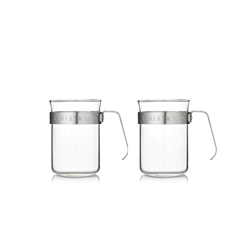 Barista & Co Metal Frame Cups, Electric Steel, Set of 2 from Barista & Co