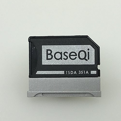 "BASEQI Aluminum MicroSD Adapter for Microsoft Surface Book & Surface Book 2 (Surface Book 2 15"" (model-351A)) from BaseQi"
