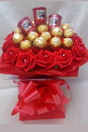 Chocolate Bouquet Ferrero Rocher Yankee Candles Bouquet from Baskets Hampers and More